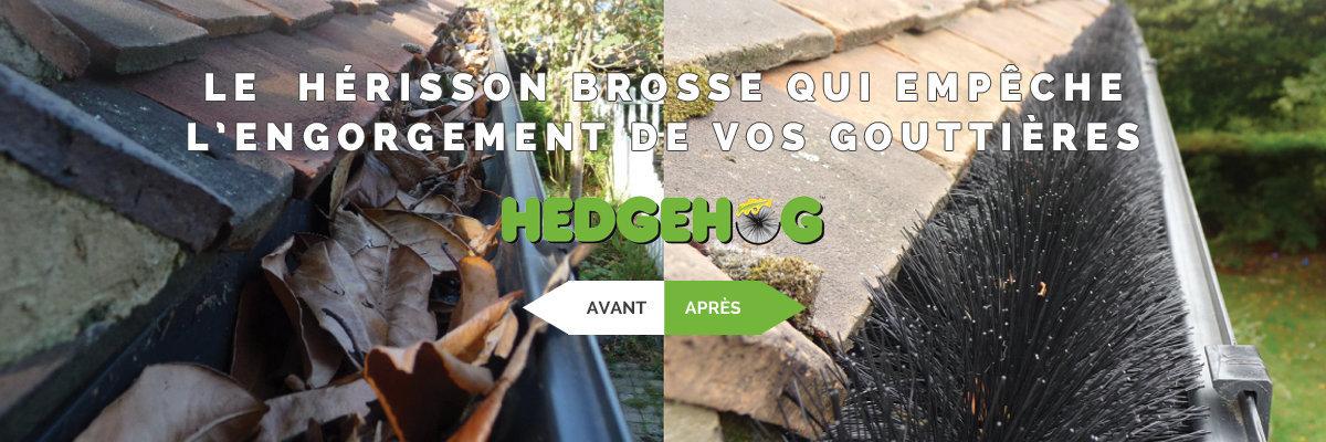 Hérisson brosse protège-gouttières